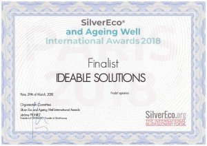 Official certificate_Finalist of the 2018 SilverEco and Ageing Well International Awards