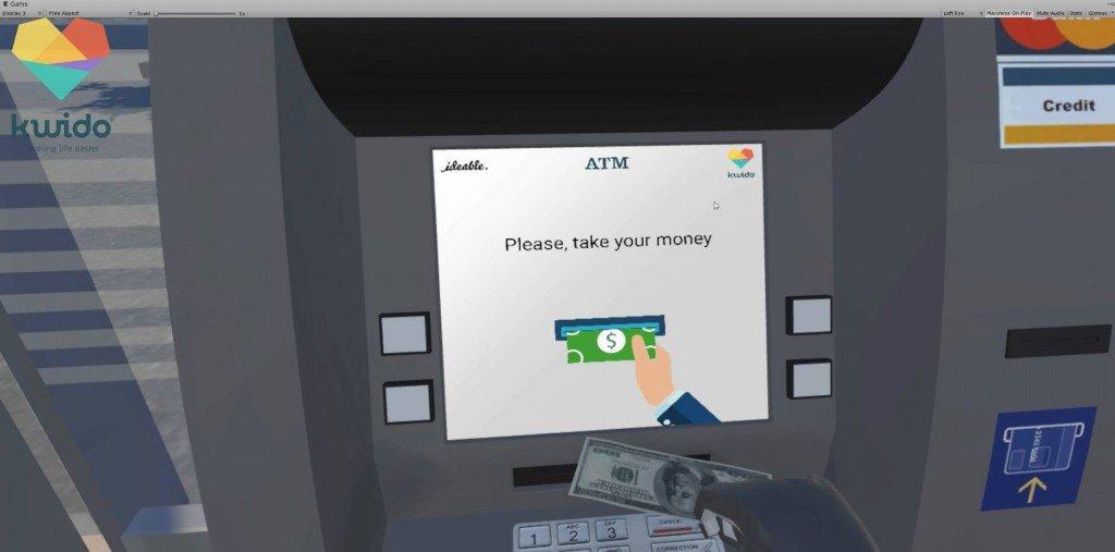 Juego realidad virtual banco Kwido